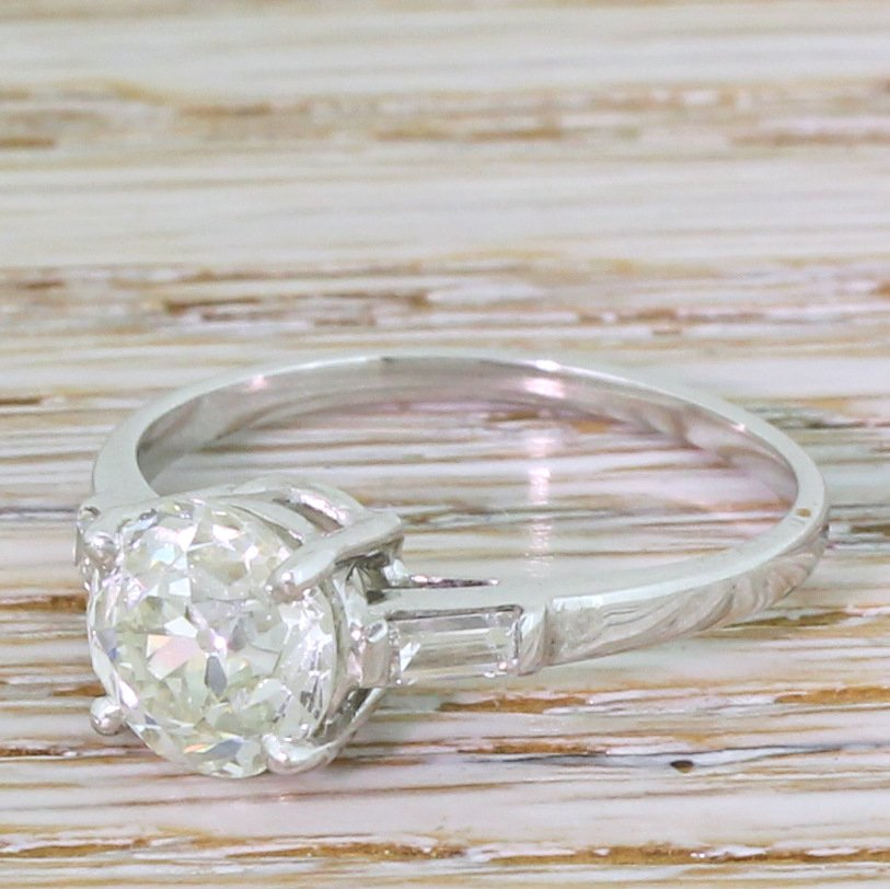 art deco 223 carat old european cut diamond engagement ring circa 1930