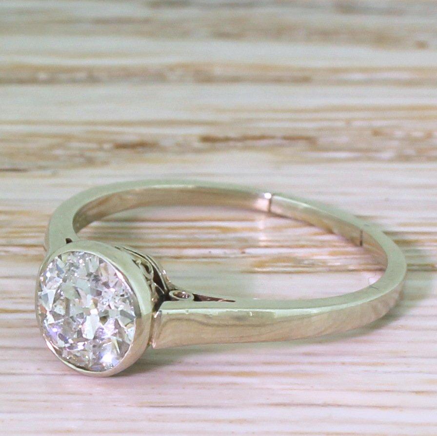 art deco 105 carat old cut diamond engagement ring circa 1930