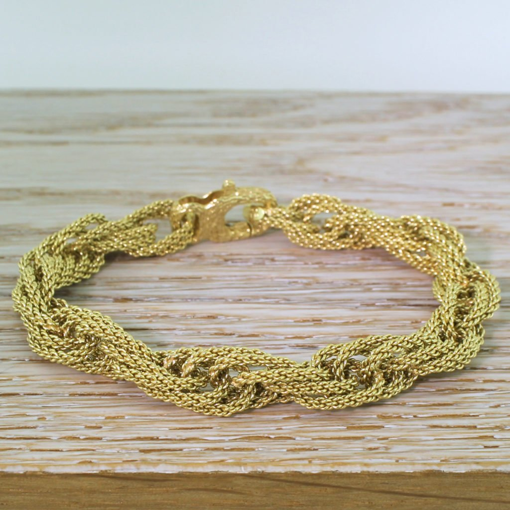 fred of paris 18k rope bracelet with original box circa 1970