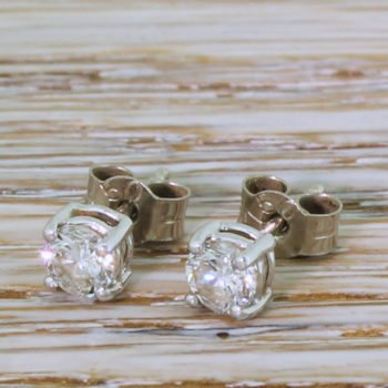89fc82bfbb792 Vintage Diamond Earrings | Gatsby Jewellery