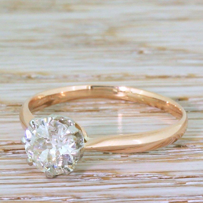 art deco 122 carat old european cut diamond engagement ring circa 1925
