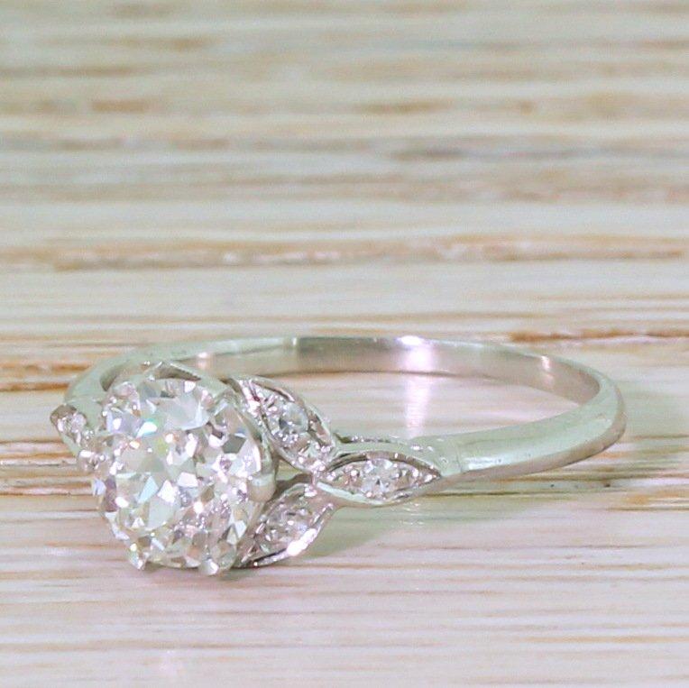edwardian 101 carat old cut diamond engagement ring circa 1910