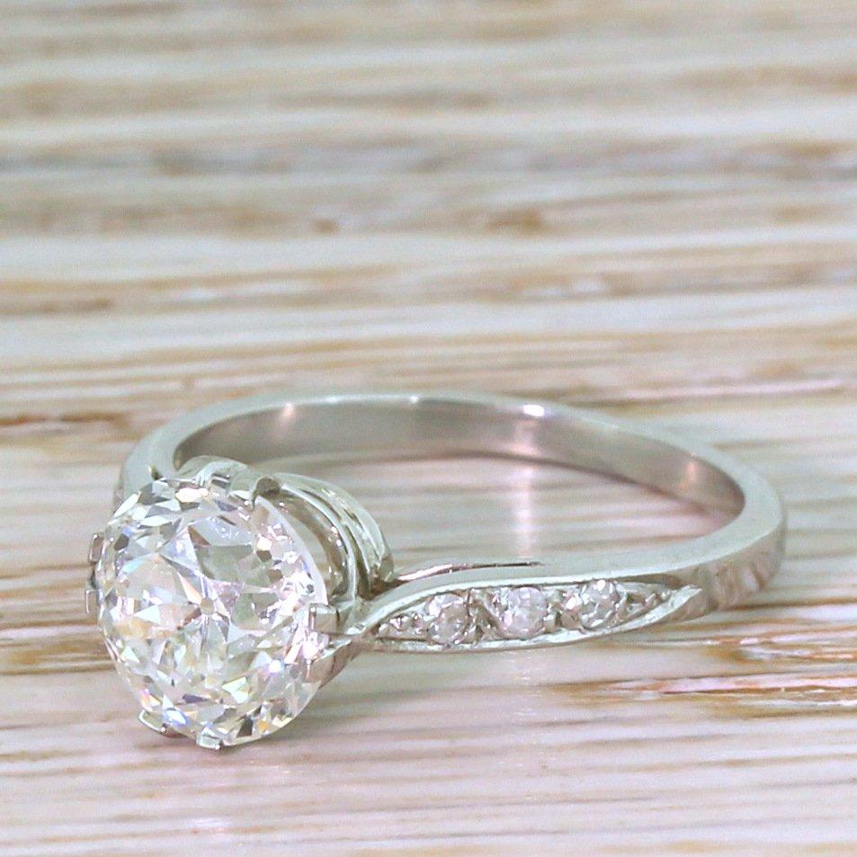 art deco 214 carat old cut diamond engagement ring circa 1920