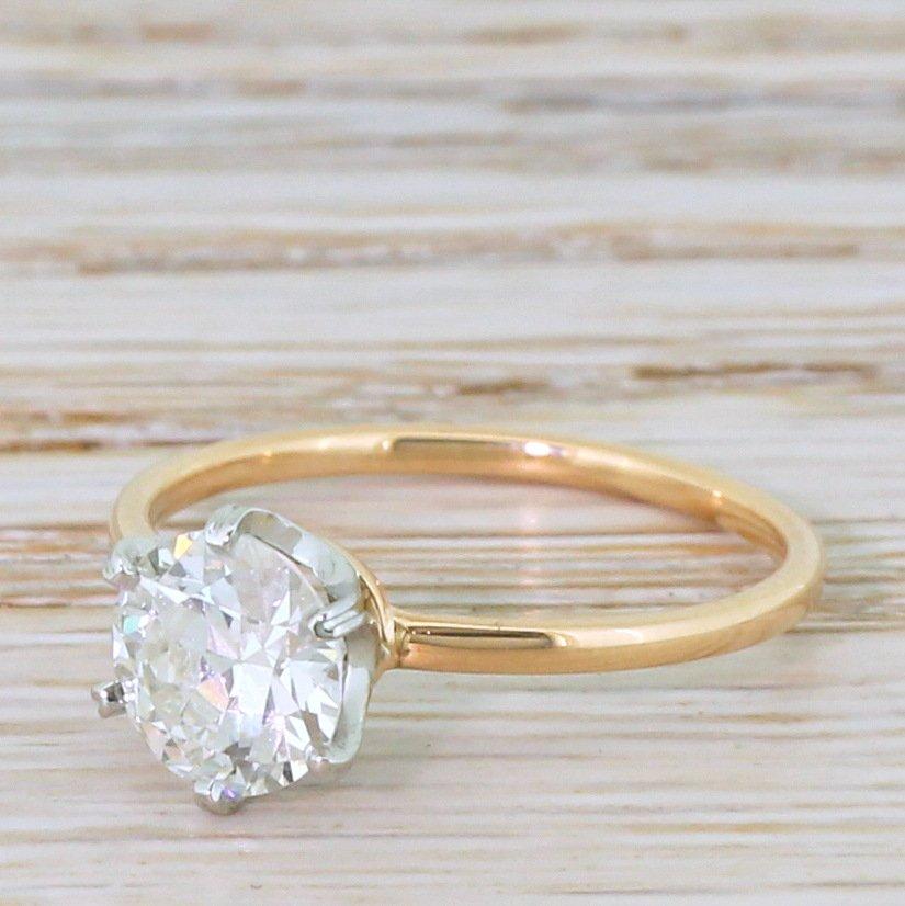 art deco 122 carat old cut diamond engagement ring circa 1930
