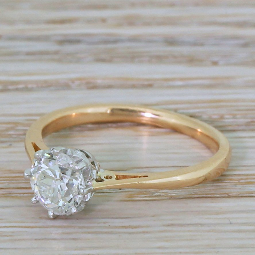 art deco 104 carat old cut diamond engagement ring circa 1925