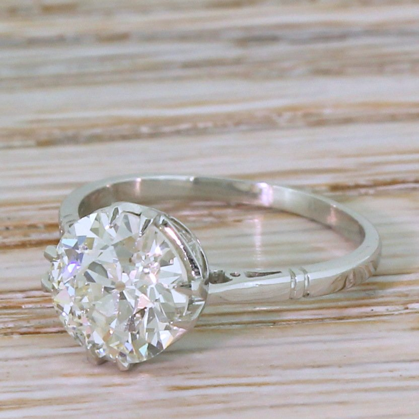 art deco 215 carat old cut diamond engagement ring circa 1920