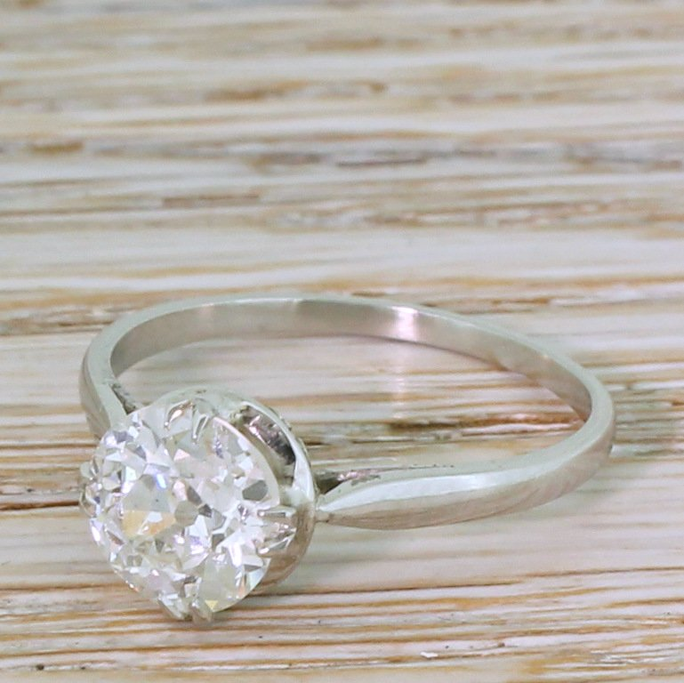art deco 151 carat old cut diamond engagement ring circa 1920