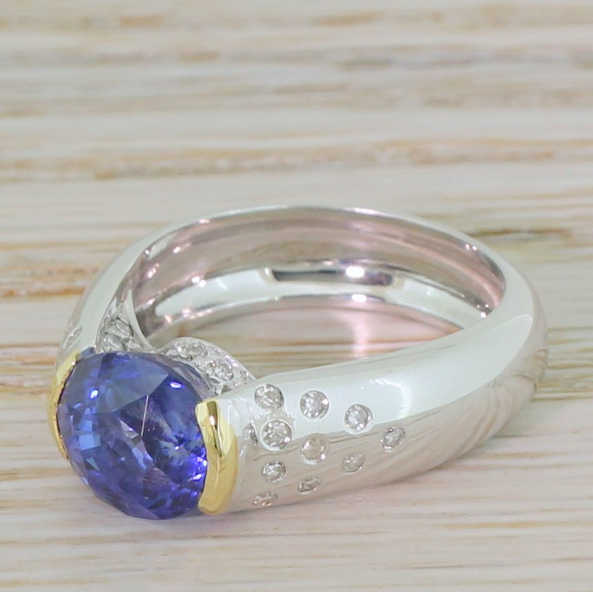 late 20th century 358 carat sapphire solitaire ring french circa 1970