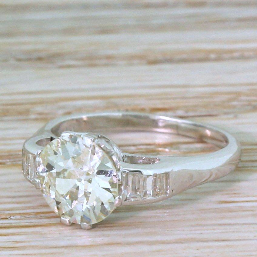 art deco 170 carat old cut diamond engagement ring circa 1930