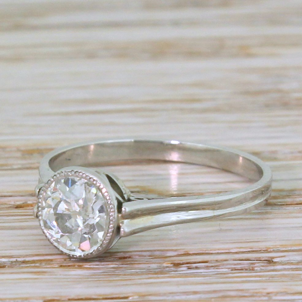 art deco 102 carat old cut diamond engagement ring circa 1930