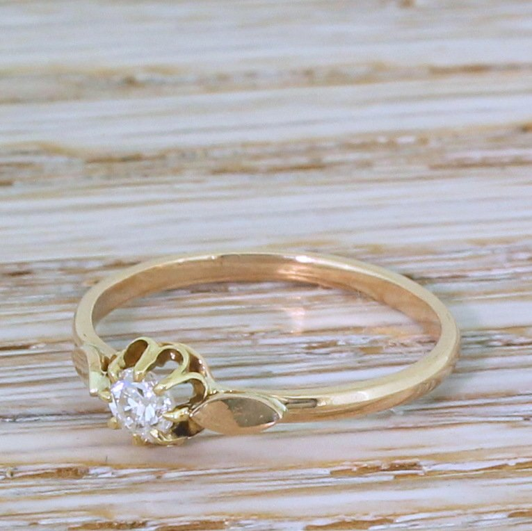 victorian 022 carat old cut diamond engagement ring circa 1900