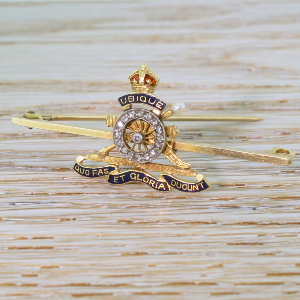 early 20th century canadian artillery military brooch circa 1915