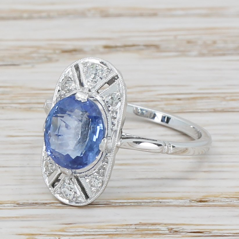 art deco 224 carat sapphire cluster ring french circa 1935