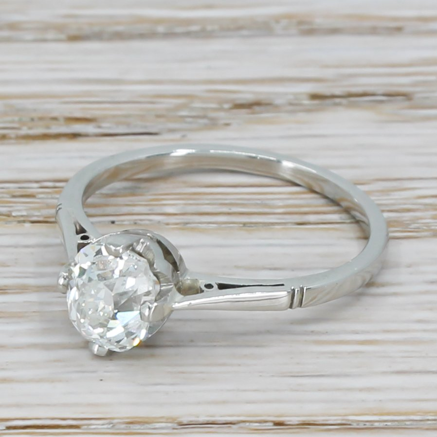 art deco 138 carat old cut diamond engagement ring circa 1925
