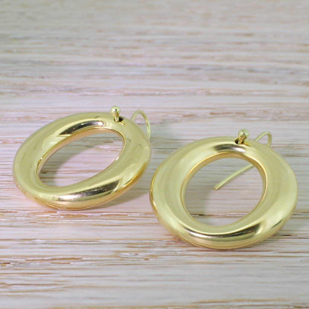tiffany 038 co elsa peretti sevillana hoop earrings 18k gold