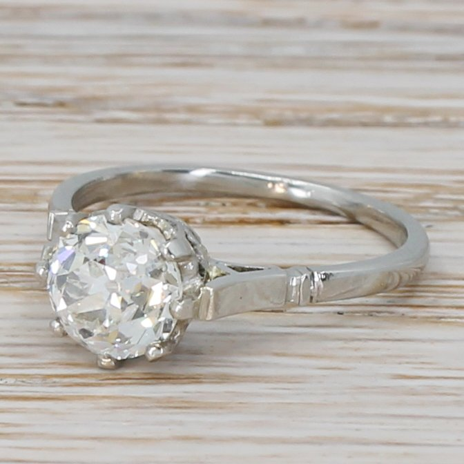 art deco 157 carat old cut diamond engagement ring circa 1925