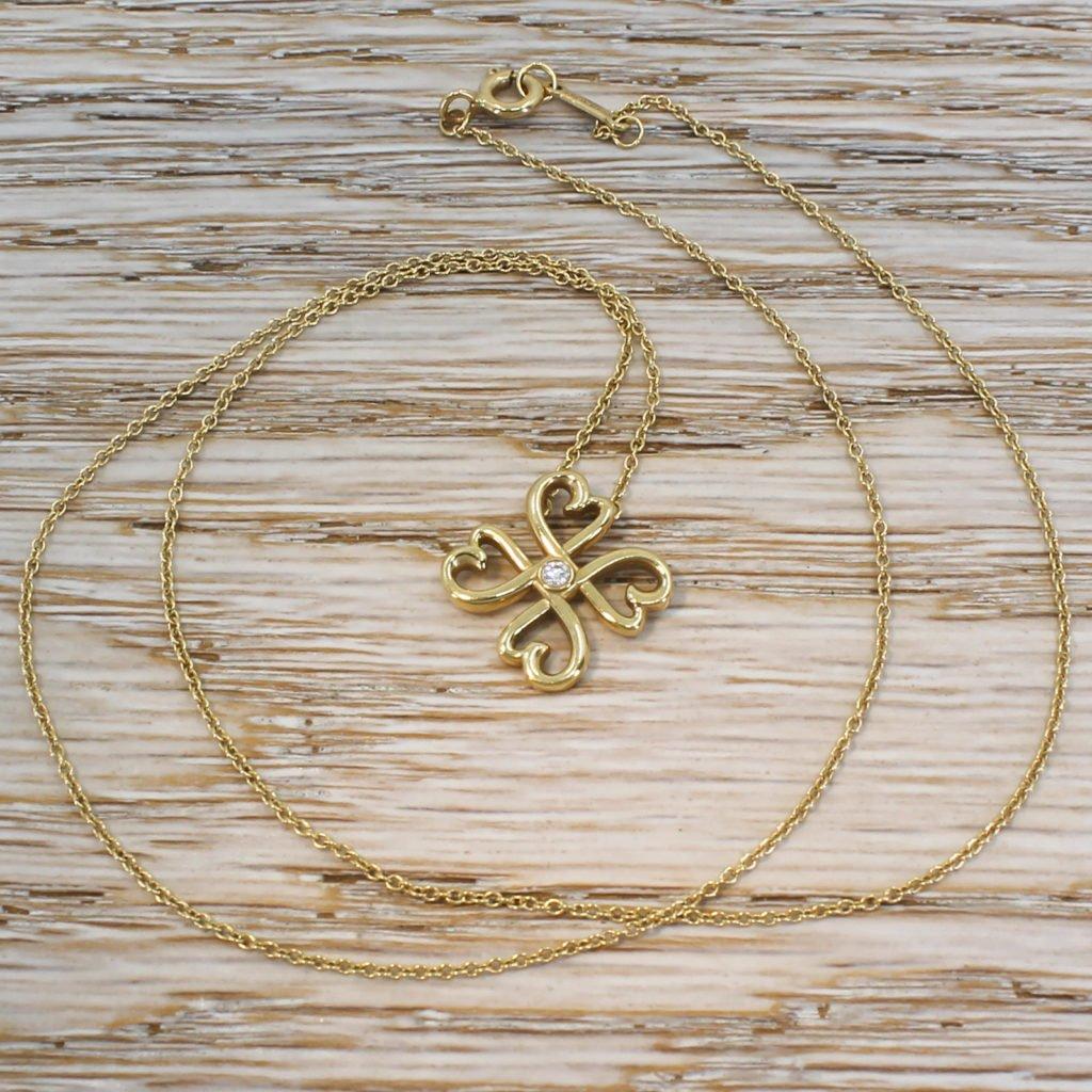 tiffany 038 co paloma picasso loving heart pendant 18k gold