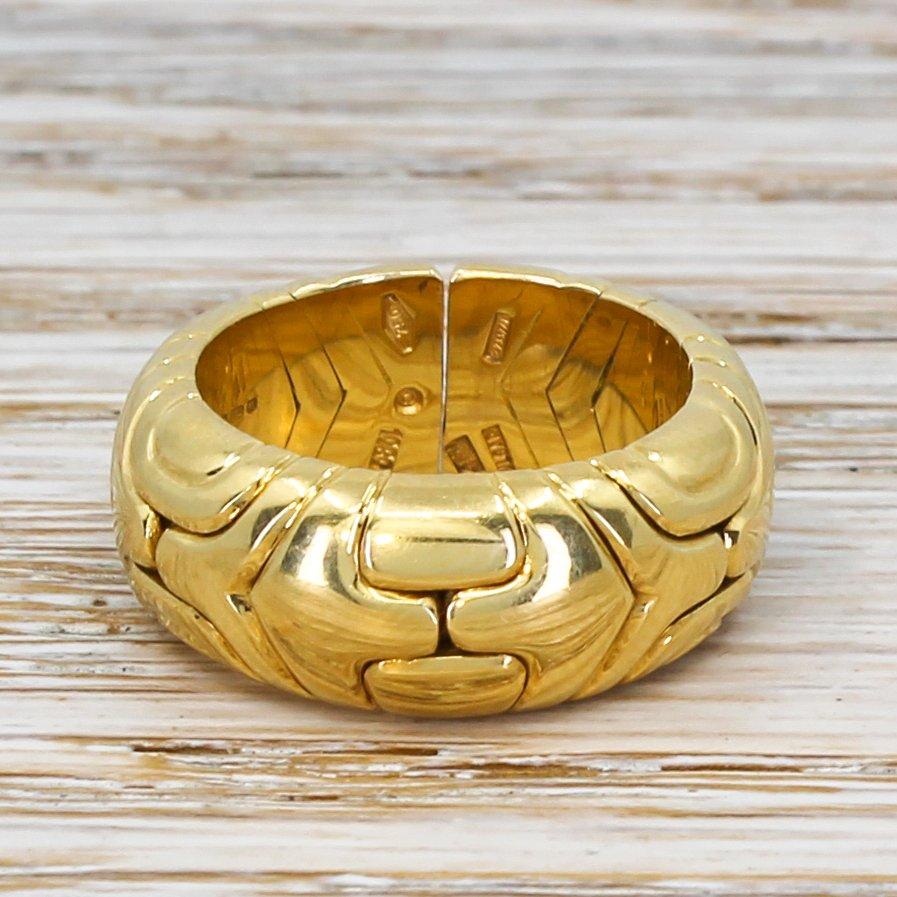 bulgari parentesi ring 18k gold