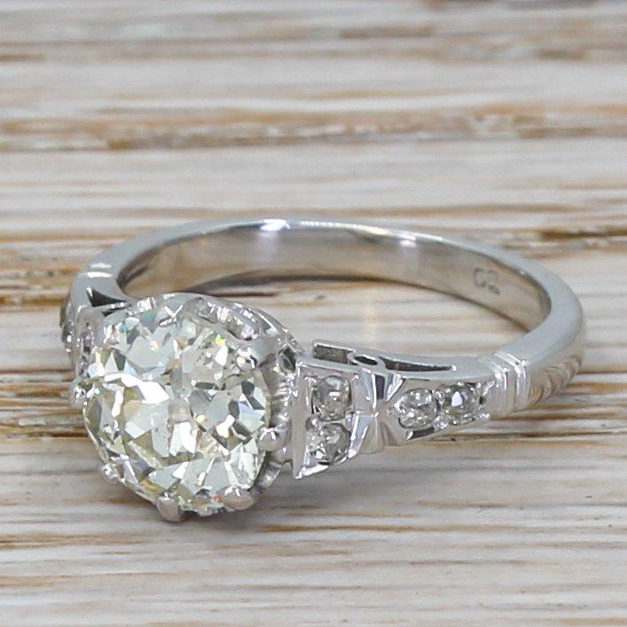 art deco 168 carat old european cut diamond engagement ring circa 1930