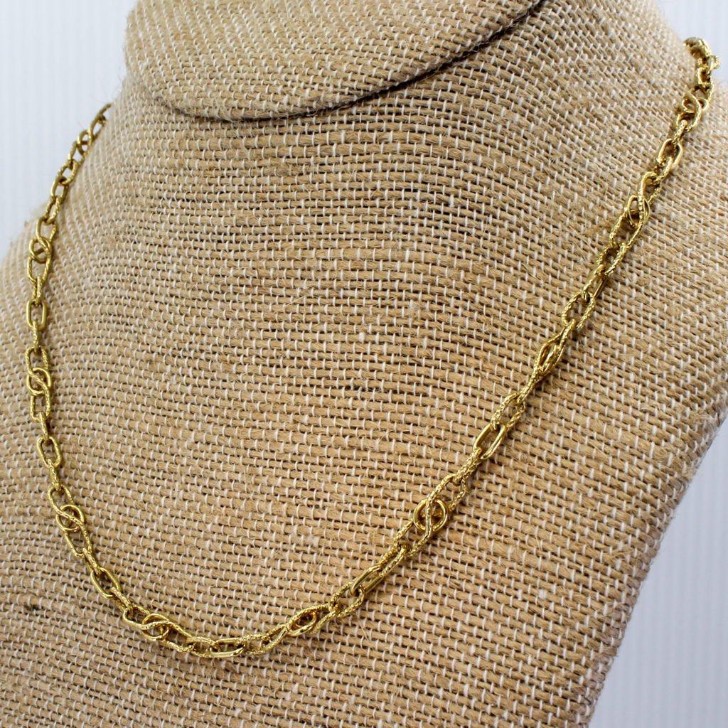 mid century fancy link gold chain circa 1960