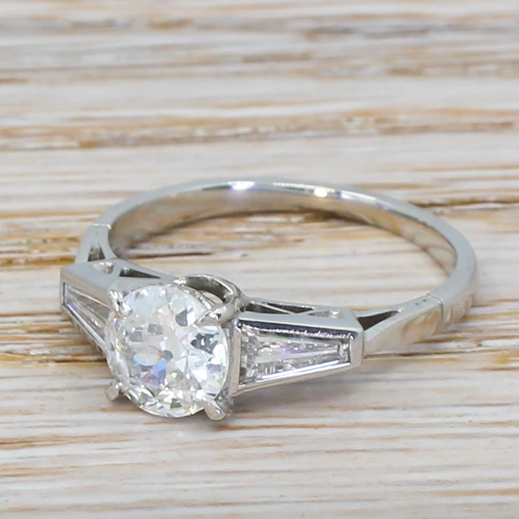 art deco 094 carat old cut diamond engagement ring circa 1935