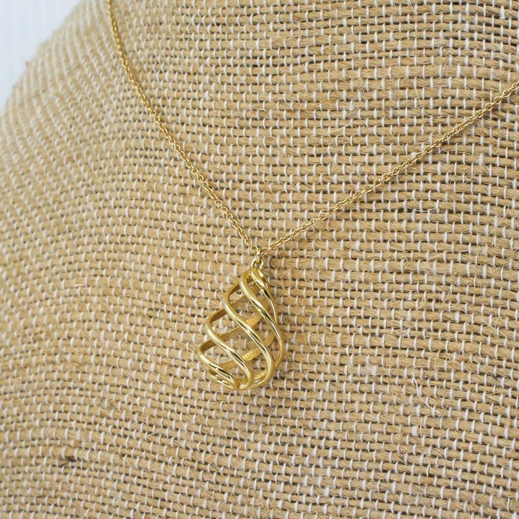 tiffany 038 co venezia luce pendant necklace 18k gold