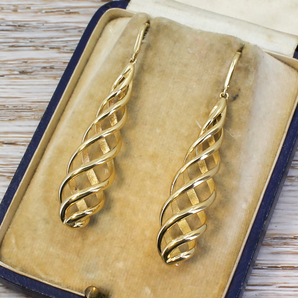 tiffany 038 co paloma picasso venezia luce earrings 18k gold