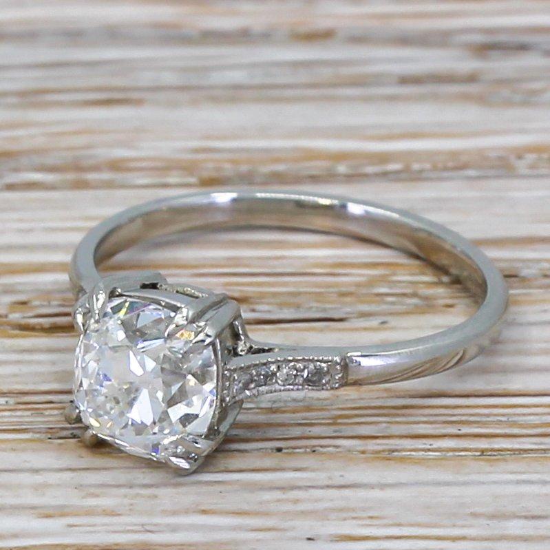 art deco 172 carat old cut diamond engagement ring circa 1920