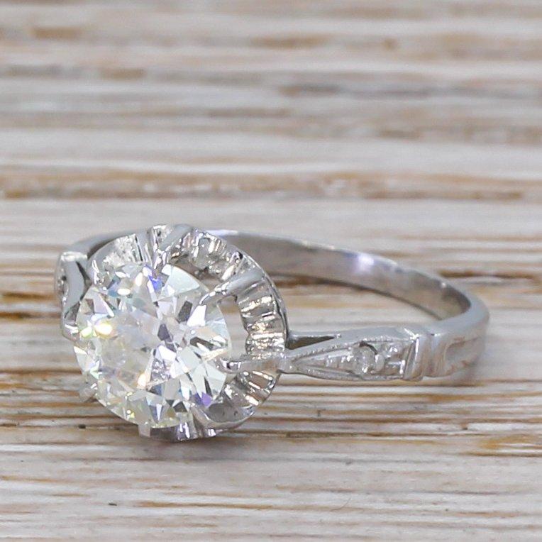 art deco 110 carat old cut diamond engagement ring circa 1920