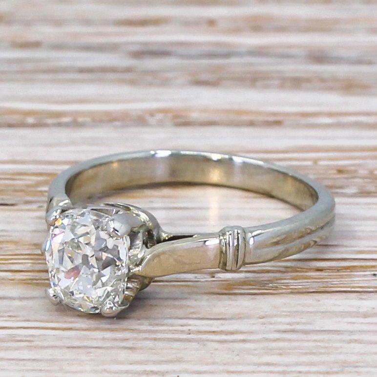 art deco 103 carat old cut diamond engagement ring circa 1930