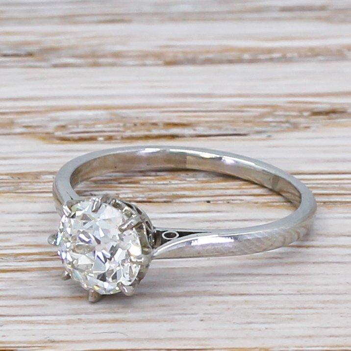 art deco 120 carat old cut diamond engagement ring circa 1925
