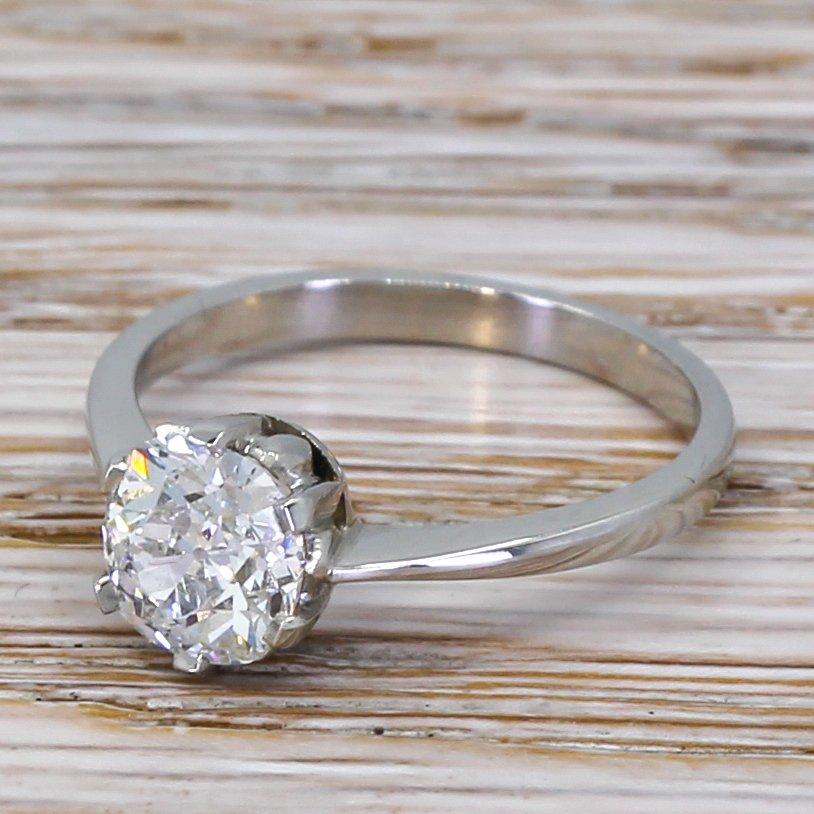 art deco 110 carat old cut diamond engagement ring circa 1935