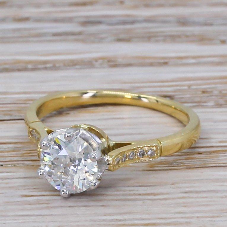 art deco 108 carat old cut diamond engagement ring circa 1935