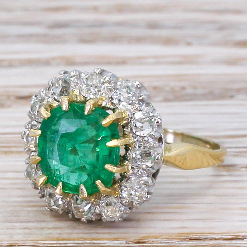 art deco 235 carat emerald 038 096 carat diamond ring circa 1930