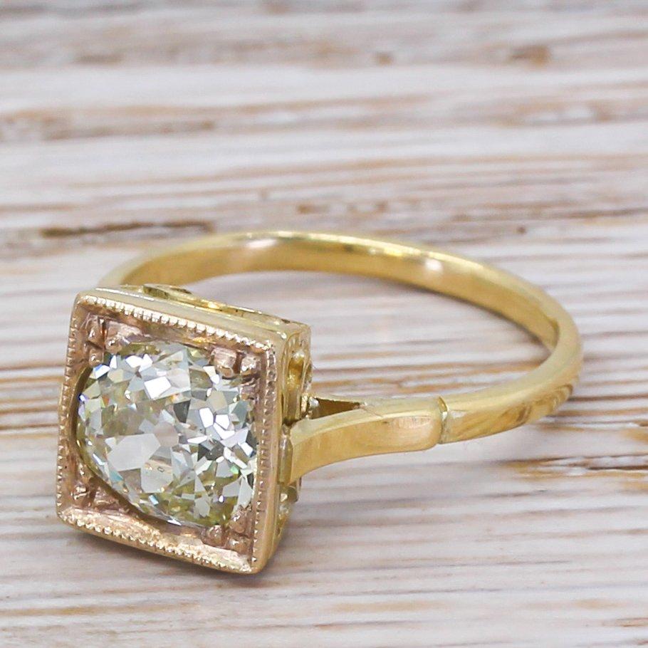 art deco 174 carat old cut diamond engagement ring circa 1915