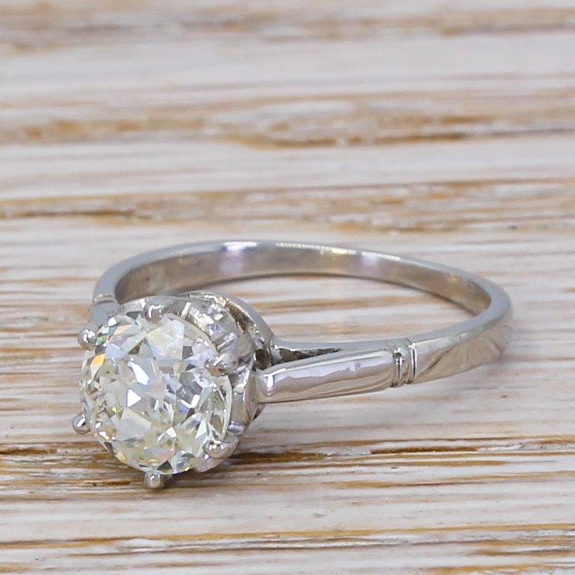 art deco 162 carat old cut diamond engagement ring circa 1935
