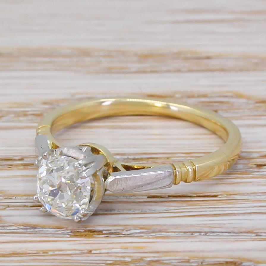 art deco 101 carat old cut diamond engagement ring circa 1935