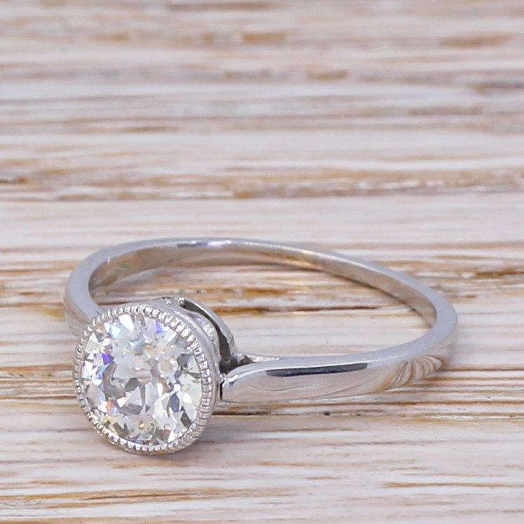 art deco 111 carat old cut diamond engagement ring circa 1920