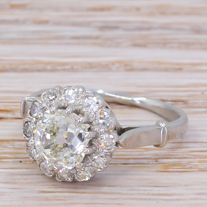 art deco 172 carat old cut diamond coronet cluster ring circa 1920