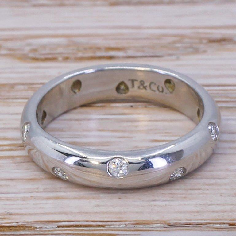 tiffany 038 co diamond etoile ring platinum